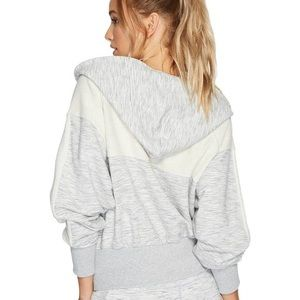 Free People Tops - Free People Movement Mixed Knit Zip Sweatshirt